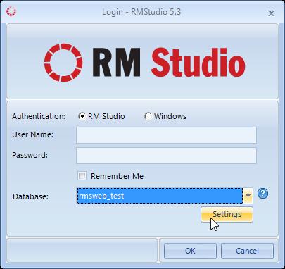 Database settings access